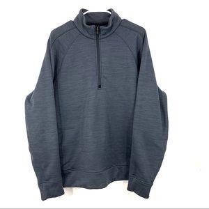 Lululemon Blue Gray Fleece Lined 1/2 Zip Pullover